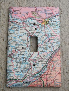 Such a cute switch plate idea.... try with any kind of paper
