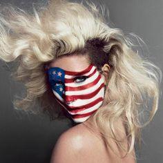 Ke$ha's looking very patriotic in this shoot for V magazine.