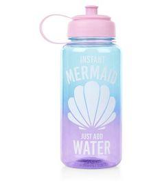 Pink Mermaid Water Bottle