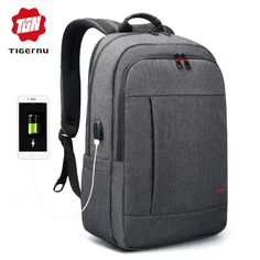 Tigernu Anti thief USB bagpack 15.6 to 17inch laptop backpack for Women Men  school Bag for 8626862509a97