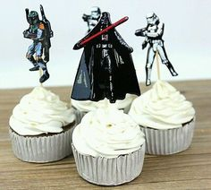 The Star Wars Party Supplies Cartoon Cupcake Toppers Pick Birthday Decoration Kids Party Favors Star Wars Cupcake Toppers, Star Wars Cupcakes, Star Wars Cake, Kids Party Decorations, Kid Party Favors, Wedding Decoration, Star Wars Party Supplies, Cartoon Cupcakes, Star Wars