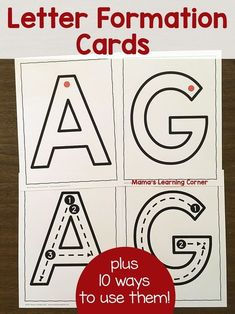 It can be difficult for Preschool and Kindergarten kiddos to learn how letters are formed. Make these Letter Formation Cards part of your strategy!