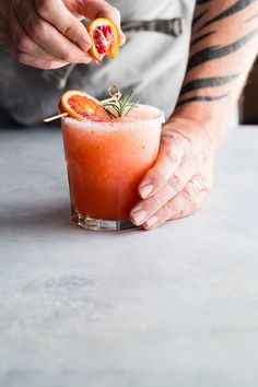 Blood Orange and Rosemary Margarita