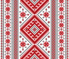 Illustration about Ukrainian ornament with red and black elements on a white background. Illustration of pattern, floral, decoration - 41096633 Folk Embroidery, Embroidery Patterns Free, Embroidery Designs, Cross Stitch Designs, Cross Stitch Patterns, Ukrainian Art, Applique Templates, Embroidery Techniques, Craft Patterns
