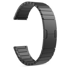 Fitbit Blaze Watch Band, MoKo Stainless Steel Replacement Smart Watch Band Link Bracelet with Double Button Folding Clasp for Fitbit Blaze Smart Fitness Watch, Watch NOT Included - BLACK >>> Check this awesome product by going to the link at the image. (This is an affiliate link and I receive a commission for the sales)