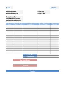It Consulting Services Invoice Template  Consultant Invoice