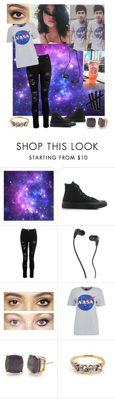 """""""Matching Calum"""" by reb-hood ❤ liked on Polyvore featuring Converse, Dorothy Perkins, Skullcandy, Charlotte Tilbury, Boohoo and Kate Spade"""