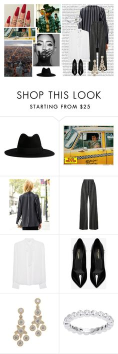 """""""Sem título #12864"""" by nathsouzaz ❤ liked on Polyvore featuring Oris, Floss Gloss, Yves Saint Laurent, Balenciaga, Diane Von Furstenberg and Miguel Ases"""