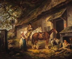 The Public House Door, George Morland, 1792. National Galleries of Scotland