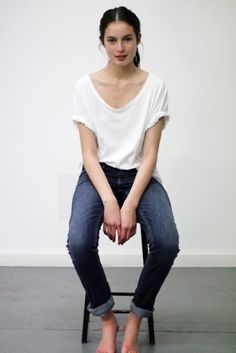 Erin's Pocket Tee inspiration: Classic jeans and a simple white tee