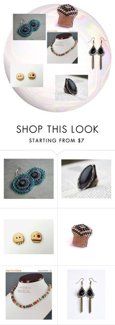 """""""Jewellery gift for Christmas by Poletsy"""" by black-passion ❤ liked on Polyvore featuring Humör and blackpassion"""