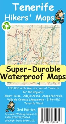 Take this large scale and highly detailed map - waterprrof and rip-proof too. Scale Map, Guide Book, Tenerife, Walking, Maps, David, Lifestyle, Amazon, Link