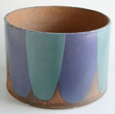 David Cressey; Glazed Stoneware Planter for Architectural Pottery, c1960.