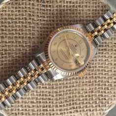 Vintage ladies Rolex 26mm Datejust Stainless and 18kt yellow gold - http://www.h1912.com/watches - Shop Preowned Rolex  – Antique Watch Store  - Rare and Unique Vintage Watches  Shop Unique, Preowned and Vintage Rolex Watches - Vintage luxury Jewelry, Antique Rolex, Vintage Luxury Watches, Antique Chronograph Watches, Antique Watch Store -  All Preowned Rolex Watches come with a Certificate of Quality & Authenticity as well as Warranty.