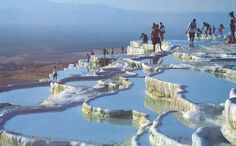 Cotton Castle #Pamukkale in #Turkey. Must visit place if you are on holidays in #Fethiye, #Oludeniz and #Hisaronu
