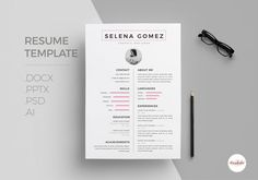 Professional CV and Cover Letter template by EmaholicTemplates
