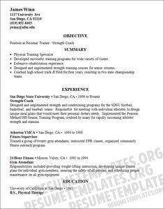 personal trainer resume more on crossfit https www facebook