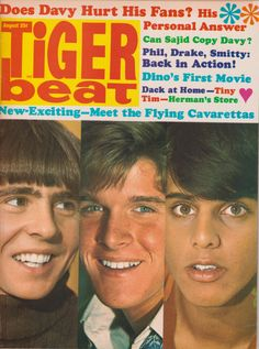 Tiger Beat, August 1968