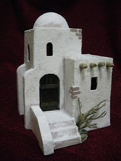 Risultati immagini per casas para belenes Diy Nativity, Christmas Nativity, Christmas Art, Christmas Decorations, Pottery Houses, Ceramic Houses, Legion Game, Modelos 3d, The Good Shepherd