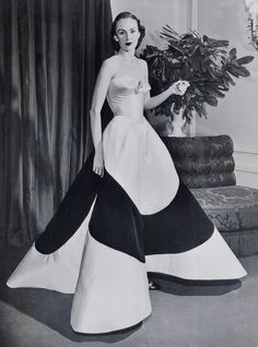 A gown designed by Charles James.