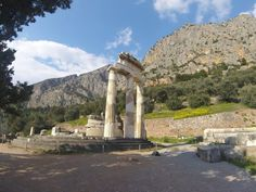 Delphi - Tholos at the Temple of Athena Pronaia Statue Of Liberty, Mount Rushmore, Temple, Greece, Journey, In This Moment, Island, Mountains, Places