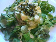 Timbal fresco con caviar de alga wakame de Entrealgas