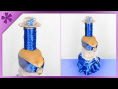 DIY How to make bottle woman, gift for father, man (ENG Subtitles) - Speed up Plastic Bottle Caps, Wedding Toasting Glasses, Gifts For Father, Graduation Gifts, Flaske, Make It Yourself, Decorative Bottles, How To Make, Sim