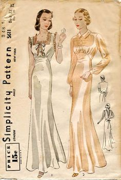 1930s Lingerie Pattern Simplicity S 611 Two by FloradoraPresents, $75.00