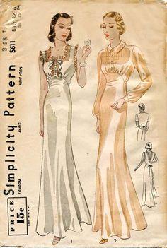 1930s Lingerie Pattern Simplicity S 611
