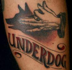 Font Hand Dog Tattoo - http://tattootodesign.com/font-hand-dog-tattoo/ | #Tattoo, #Tattooed, #Tattoos