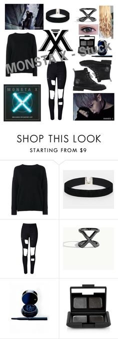 """MONSTA X - Stuck WONHO"" by kpopbookwormartist ❤ liked on Polyvore featuring Frame Denim, ASOS, WithChic, Clé de Peau Beauté, NARS Cosmetics and Giuseppe Zanotti"