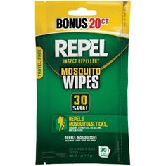 Repel 94100 Sportsmen 30-Percent Deet Mosquito Repellent Wipes, 2 Packs of 20 Count - 40 Total! -- This is an Amazon Affiliate link. Check out this great product.