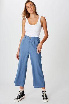 Cotton, Pants, Fashion, Trouser Pants, Moda, Fashion Styles, Women's Pants, Women Pants, Fashion Illustrations