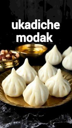 Modak Recipe, Chaat Recipe, Sweet Dishes Recipes, Vegetarian Snacks, Vegetarian Cooking, Indian Dessert Recipes, Cooking Recipes, Oven Recipes, Easy Cooking