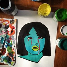 My version of #gogoyubari #killbill #chiaki #quentin #tarantino  #paper #papel #arte #art #acrylic #acrilicos #popart #poplife #quentin #schoolgirl #movies #pelicula #quentintarantino #bloody #writer #director  #artepop