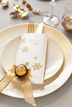 DIY: decoração de mesa para festas | Natal e Reveillon | Ferrero Rocher