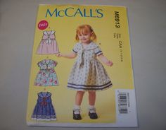 New McCall's Toddlers' Dress Pattern M6913 (4.50 USD) by martijean