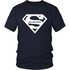 Super Big Brother T-Shirt, Design blue, red color tee