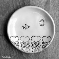ceramic ring dish, gift for a pilot