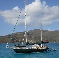 A classic steel cruising boat, the Joshua 42 is modeled on Bernard Moitessier's famous round-the-world race winning boat.