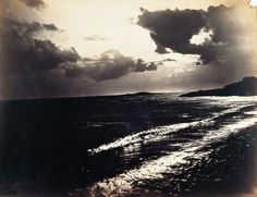 Gustave Le Gray (French, 1820-1884). Mediterranean Sea, Agde. Albumen print from two glass plate collodion negatives.