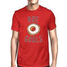 365 Printing Bae Goals Men's Red T-shirt Humorous Graphic Shirt Round Neck Tee