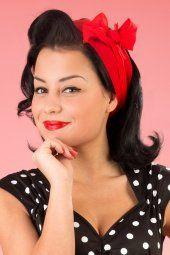 Pinup Couture TopVintage exclusive ~ Natasha Dress in Black White polka sateen 44 4587 20130228 0226