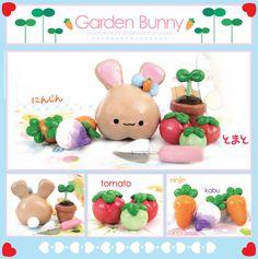 Garden Bunny Figure by Oborochann.deviantart.com on @deviantART