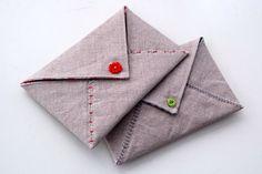 Simplesmente Artesanato: Envelope e cartaõ de tecido.passo a passo - Para convite das madrinhas!