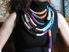 collana corda maglia