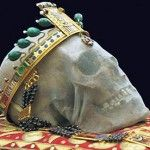 """Relic, the Head of Saint Good King Wenceslaus Yes, he was real, a man who ruled his country with love, compassion and gentleness when those weren't always important- slain by his brother's faction. He's brother's nickname was """"the cruel"""". Memento Mori, St Wenceslaus, Catacombs, Catholic Saints, Vanitas, Dark Ages, Skull And Bones, Crown Jewels, Sacred Heart"""
