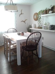 lilly home designs skogsta chairs and parsons dining room table furniture tables