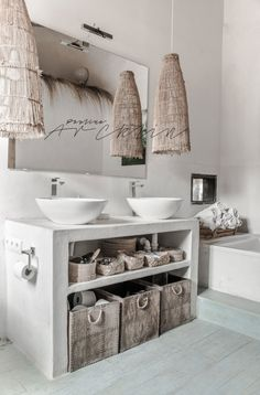 with lots of passion* - beachhouse interior design: Carde Reimerdes photo: Paulina Arcklin Bathroom Interior, Home Interior, Interior And Exterior, Interior Design, Bad Inspiration, Bathroom Inspiration, Interior Inspiration, Bathroom Ideas, Bathroom Organization