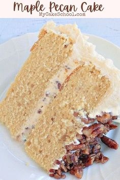 Maple Buttercream, Buttercream Frosting, Maple Pecan, Maple Cake, Best Birthday Cake Recipe, Birthday Cake Flavors, Pecan Recipes, Pecan Desserts, Baking Recipes